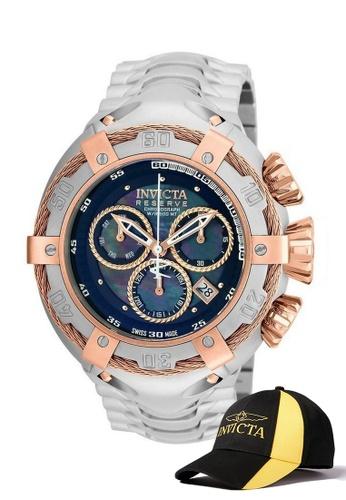 INVICTA gold Invicta Bolt Men 52mm Case Stainless Steel Strap Dial Quartz Watch 21342 w/ Cap 49859ACCC49C1AGS_1