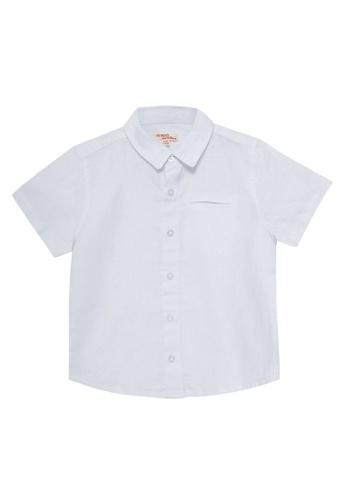 Du Pareil Au Même (DPAM) white White Shirt CF88FKAE53DA76GS_1