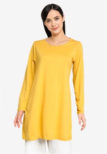 Aqeela Muslimah Wear yellow Basic T-Shirt 99A1AAA877395FGS_1