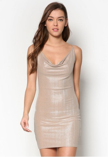 金屬esprit 台灣門市垂墜領細肩帶連身裙, 服飾, 服飾