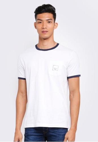 MANGO Man 白色 Logo口袋T恤 AD6A6AAEA0E00DGS_1