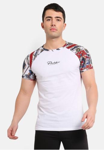 509d55ca Buy River Island ?Prolific? Raglan Muscle Fit T-shirt Online on ZALORA  Singapore