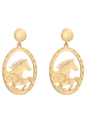 A-Excellence gold Round Earrings in Details 5CB84AC918CFE2GS_1