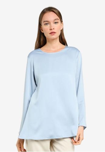 Aqeela Muslimah Wear blue Basic Blouse 67B89AA306E49DGS_1