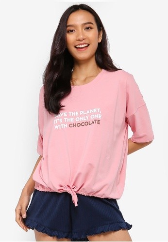Cotton On Body pink Jersey Tie T-Shirt DC872AA2987E34GS_1