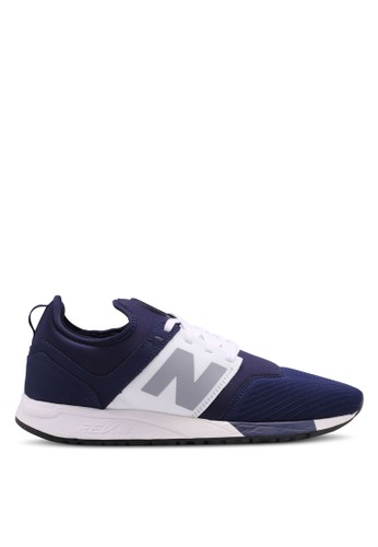 New Balance white and navy 247 Lifestyle Sneakers F044DSHBBDAB57GS_1