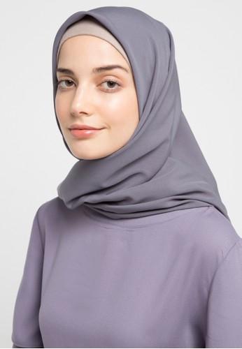 HAZELNUT grey Luna Square Hijab 56217AA18E7927GS_1