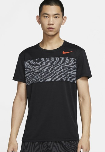 Nike black AS Men's Superset Short-Sleeve Graphic Training Top PX CNCT E30CAAA96338DEGS_1
