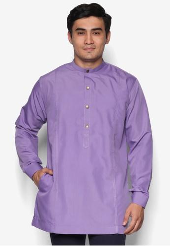 Amar Amran purple Kurta  Al Hakim AM362AA70UOFMY_1