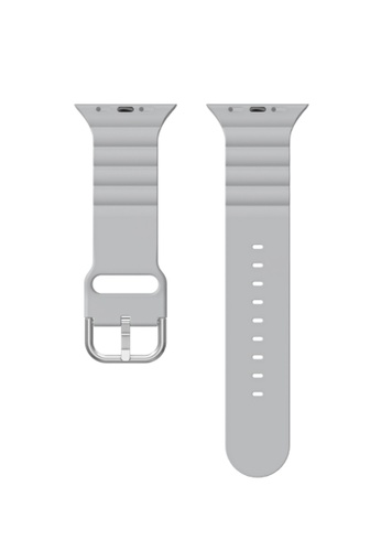 Kings Collection grey Grey Silicone Apple Watch Band 38MM / 40MM (KCWATCH1068a) 6FF53AC9CFF644GS_1