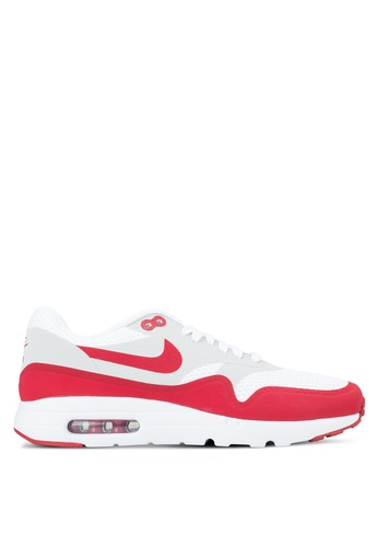 Nike grey and white and red Nike Air Max 1 Ultra Essential NI126SH97HCSSG_1