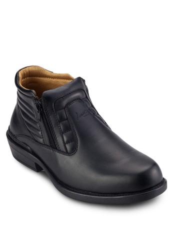 zalora 順豐側拉鍊低筒靴, 鞋, 鞋