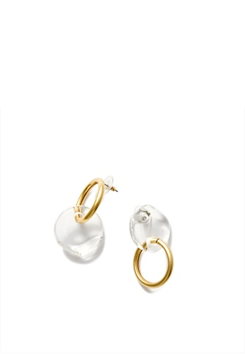 MONDAY EDITION gold and  Semicircle And Ring Earrings 6BA7BAC1E0CA2EGS_1