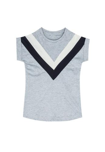 FOX Kids & Baby grey Striped Jersey Dress 7EB79KA01DFFF6GS_1