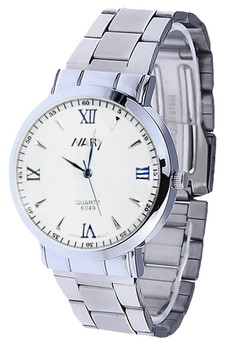 NARY 6049 Women's Silver Stainless Strap Watch