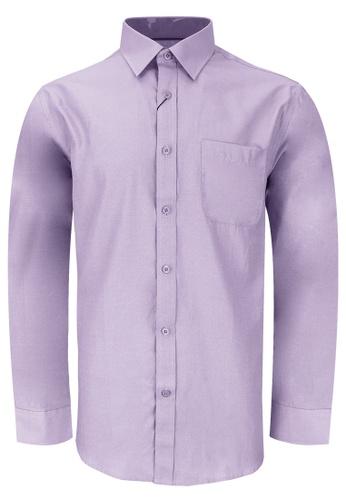 Pacolino purple Casual Smart Long Sleeve Shirt PA995AA0RTQLMY_1