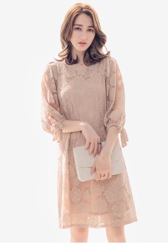 Yoco pink Lacy Floral Dress 0ED71AA8F080B8GS_1