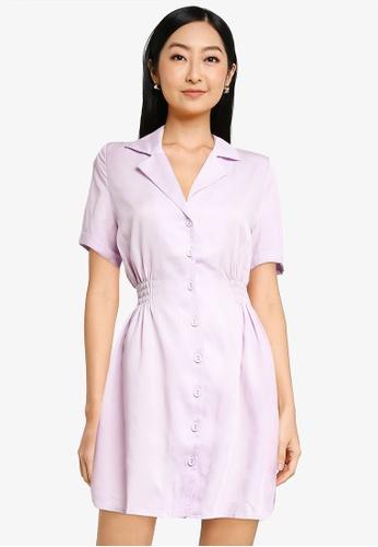 URBAN REVIVO purple Women's Dress EE5BFAAD59E5ECGS_1