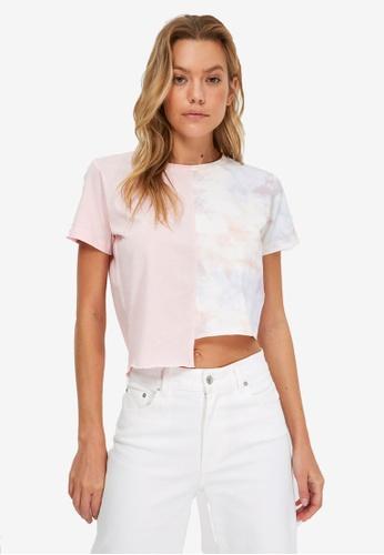 Trendyol pink Asymmetric Crop T-Shirt 16135AA1A9A0C0GS_1