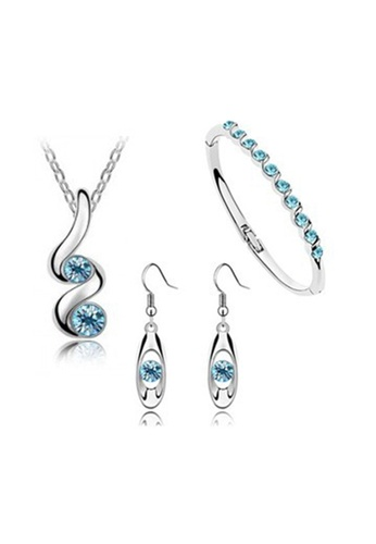 Greatnes Trading Corp blue Buds Austrian Crystal Accessories Jewellery Sets GR861AC55NCAPH_1