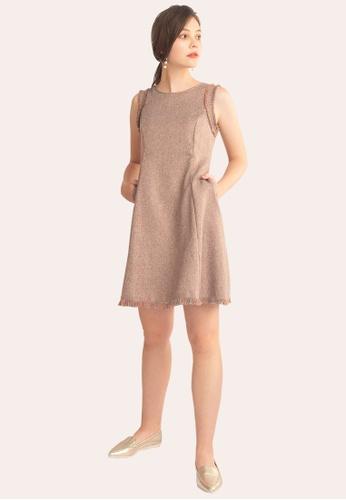 L'zzie 褐色 LZZIE摩尔色连衣裙-棕色 5AD6BAA850ACF4GS_1