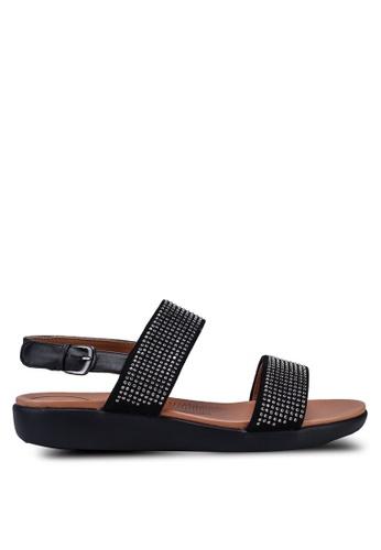 NOVENI black Sparkle Rhinestones Sandals E8C35SHD40E411GS_1