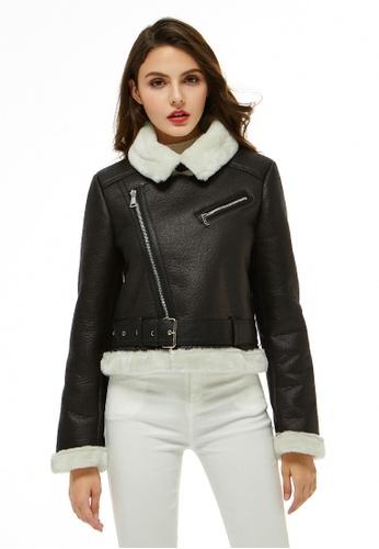 London Rag black and white Faux Leather Biker Jacket 829DCAA63D9C83GS_1
