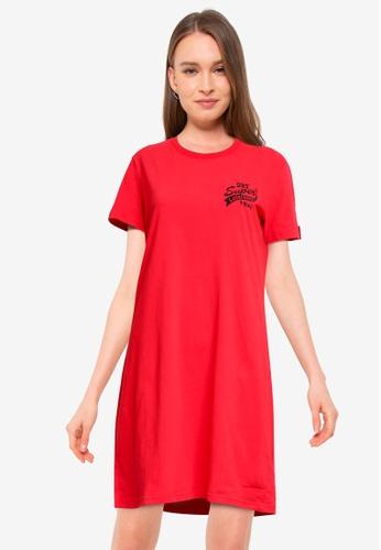 SUPERDRY 紅色 CNY Tshirt Dress E3BA7AAE823040GS_1