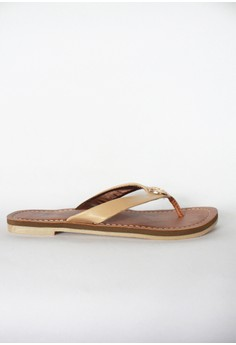 Appetite Shoes Beige Synthetic leather flats