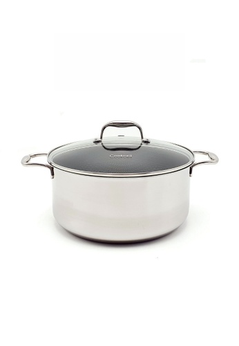 Cookcell silver COOKCELL Blackcube 28cm Casserole with Glass Lid 7A27BHLD3F6F87GS_1