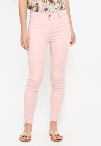 Dorothy Perkins pink Pale Pink Frankie Super Skinny Ankle Grazer Jeans C6306AAFA4CB3CGS_1
