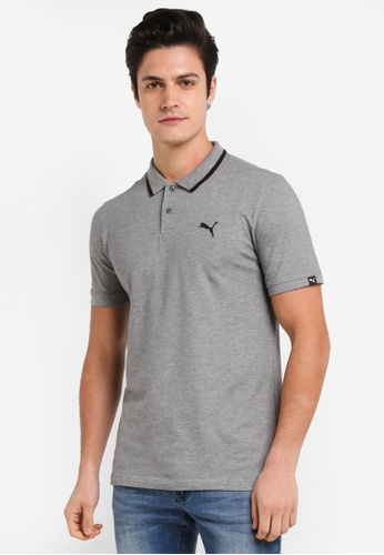 Puma grey Essential Pique Sports Polo Shirt PU549AA0SWJUMY_1