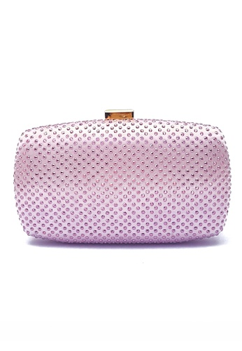 The Chic Initiative pink Studded Clutch (Pink) TH778AC0T0P5MY_1
