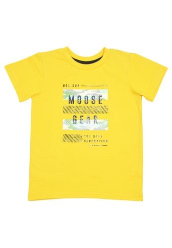 Moose Gear yellow Boys T-Shirt With Print EBD2EKAAA1D40CGS_1
