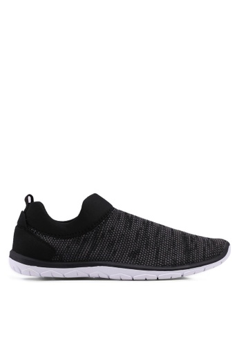 Topman black Black Knit Sock Trainers D84B8SH3EC8785GS_1