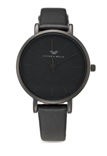 Victoria Walls Watches black Designer Watch-Elegant Leather Strap EF520ACD21DA6EGS_1