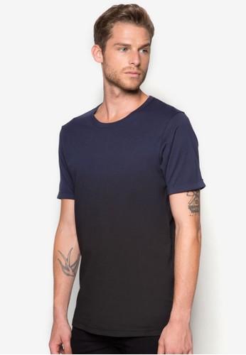 漸層捲袖T 恤,zalora 鞋評價 服飾, 素色T恤