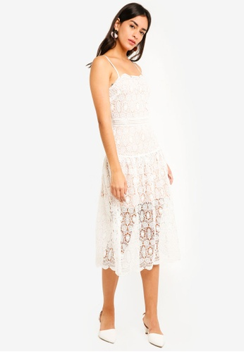 MDSCollections white Junia Lace Dress In White E1909AA18758ECGS_1