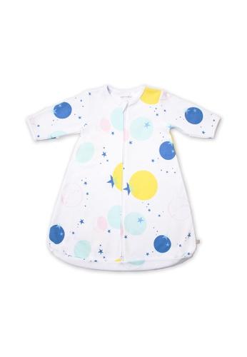 OETEO white and multi Starry Gaze Easysuit Sleepbag DD122KC6B63437GS_1