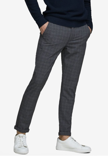 Jack & Jones black Marco Checked Chinos DBD61AAC66A576GS_1