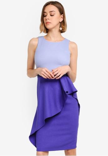 711433dbdfbf Buy CLOSET Pencil Peplum Drape Dress Online on ZALORA Singapore