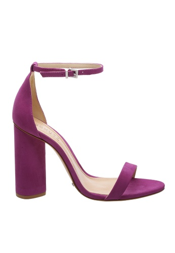SCHUTZ purple SCHUTZ Strap Block Heel Sandal - CURRENT (GRAPE) 831E1SHF861304GS_1