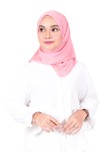 Ava Moony red and pink Violet Scarf A9966AA354CF7EGS_1