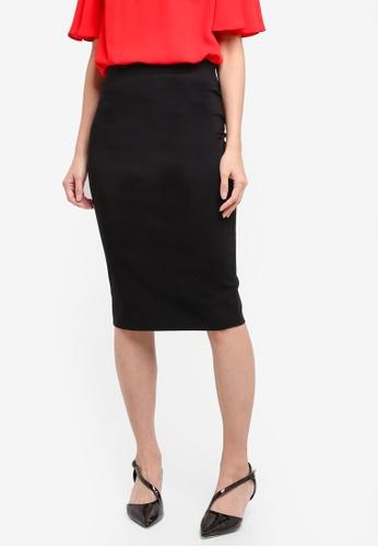 Dorothy Perkins black Wide Bengaline Skirt C4DD6AA73726AEGS_1