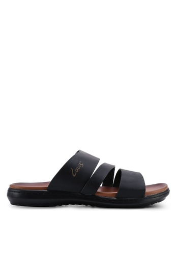 Louis Cuppers black Triple Strap Sandals 23F25SH07ACC4AGS_1