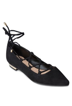 Ghillie Lace Up Pointed Flats
