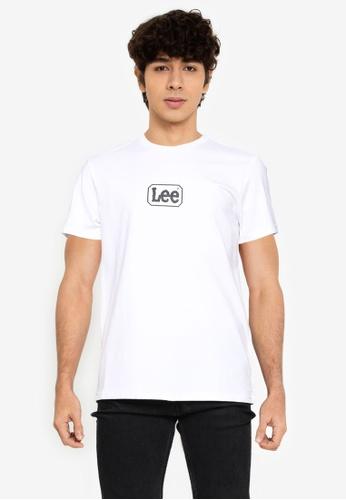 Lee white Short Sleeve Printed Tee 67F1BAAACF8092GS_1