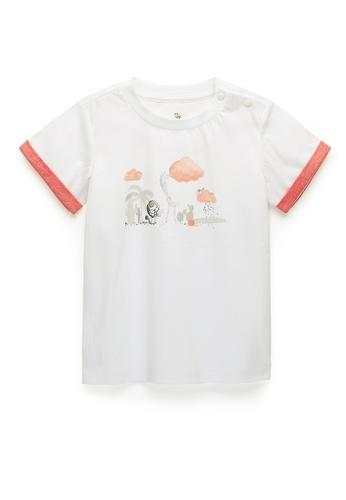 Kingkow white Cotton T-shirt 2-4 years 01AD3KA200D58EGS_1