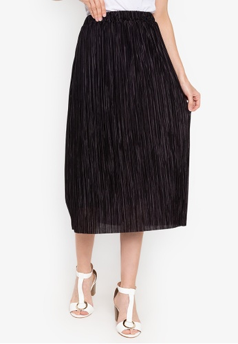 a2fc2b75468 Shop Pois Pleated Mid Length Skirt Online on ZALORA Philippines