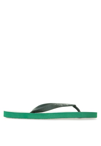 BENCH green Printed Rubber Slippers BE550SH90MBXPH_1
